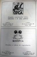 OPCA, Obras Públicas e Cimento Armado S.A. & NOVOPCA, Construtores Associados S.A. advertisement in Revista Indústria do Norte