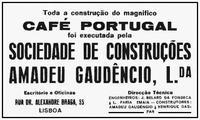 Café Portugal, Lisboa, construction advertisement image 2