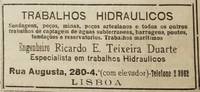 Teixeira Duarte S.A. advertisement in Jornal O Século