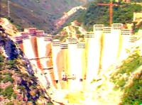 Barragem do Alto-Lindoso, Ponte da Barca, under construction image 1