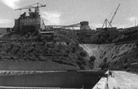 Barragem do Fratel, Nisa, under construction image 1